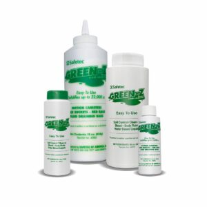 Green-Z solidifier in a variety of bottle sizes
