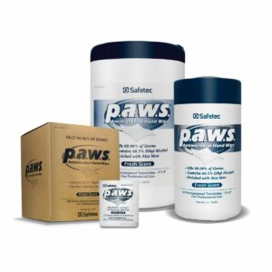 p.a.w.s. antimicrobial hand wipe containers