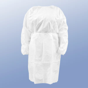 White protective gown