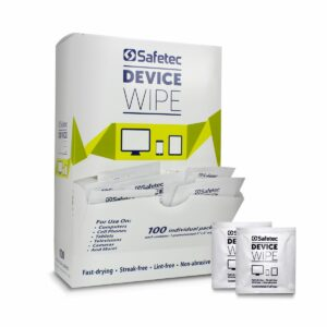 Box of individually-packaged device wipes